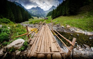 The path to the highest Romanian Peak