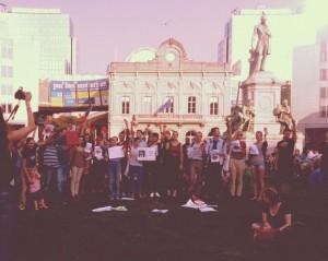 Protest la Bruxelles