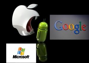 google android vs apple microsoft