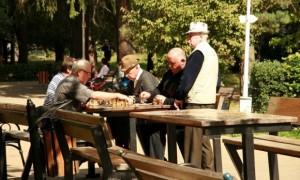 Playing chess in the park. Photograph: Anca Popinciuc/GuardianWitness