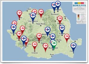 Rețeaua magazinelor Carrefour România Sursa: carrefour.ro