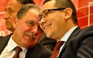 Constantin Nicolescu, președinte CJ Argeș și Victor Ponta, președinte PSD Foto: stirileprotv.ro