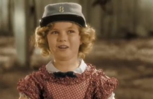 "Shirley Temple - imagine din filmul ""The Littest Rebel"" (1935)"