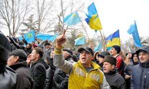 Protest al tătarilor din Crimeea Foto: theguardian.com / Asahi Shimbun/ Getty Images