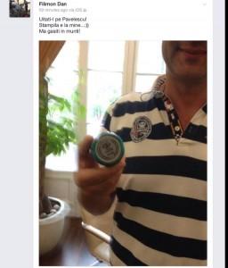 """Dan Filimon în """"selfie"""" cu ștampila partidului Foto: Facebook"""