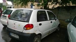 Mașină Hospice pentru vizită la domiciliu. Foto: Mălina Dumitrescu