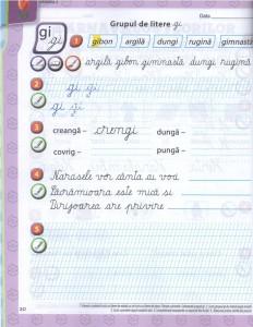 auxiliar litera romana clasa I pag 30