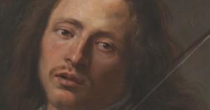 Cele cinci simțuri - Auzul,  de Gonzales Coques (Muzeul Brukenthal).  Detaliu față