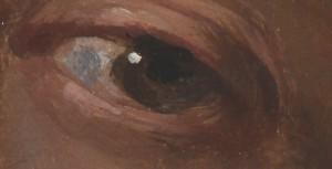 Cele cinci simțuri - Auzul,  de Gonzales Coques (Muzeul Brukenthal).  Detaliu rezoluție maximă