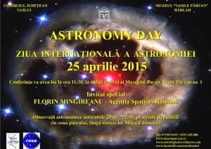 Afiș Ziua Internațională a Astronomiei 25 aprilie 2015